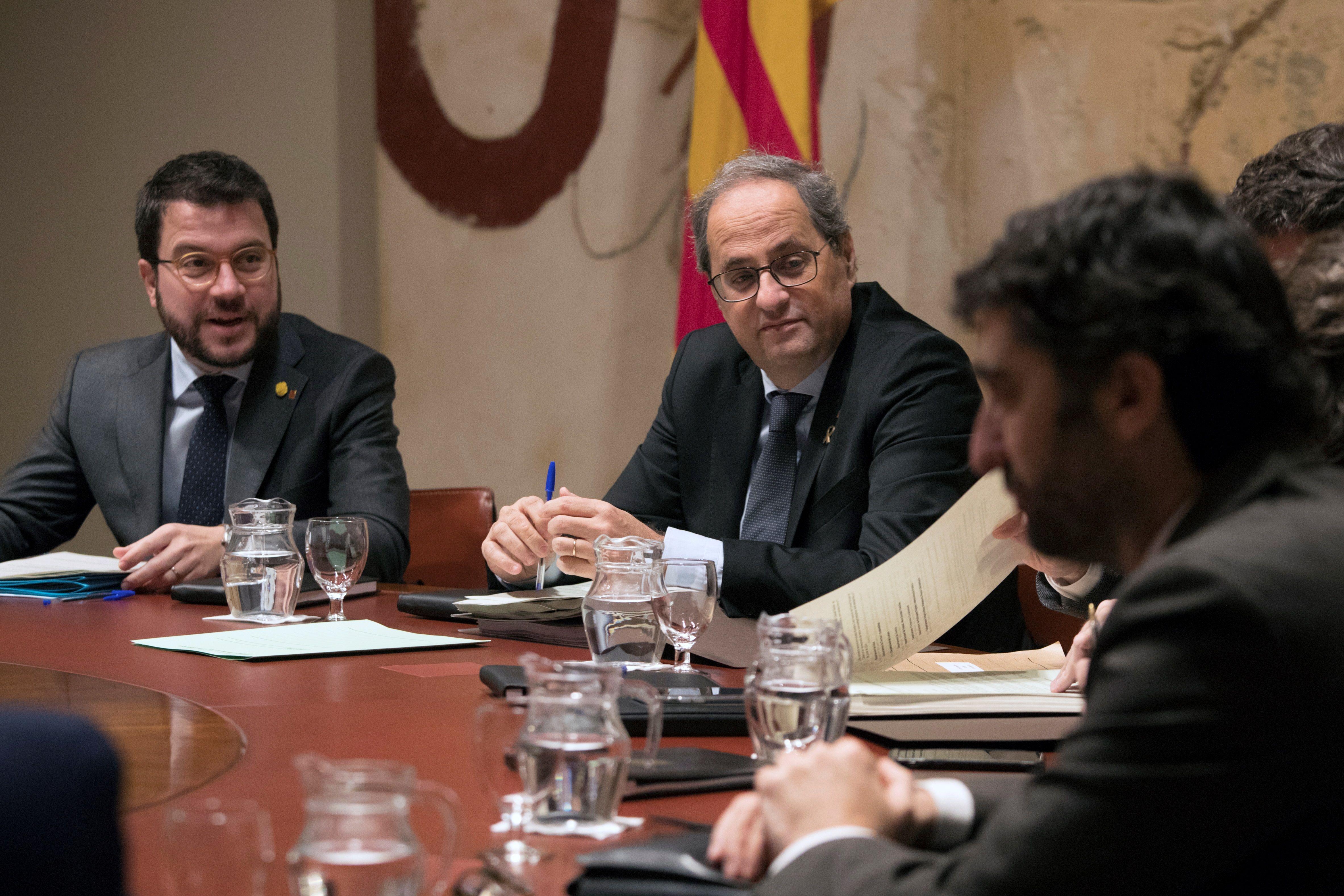 Reunión semanal del gobierno catalán