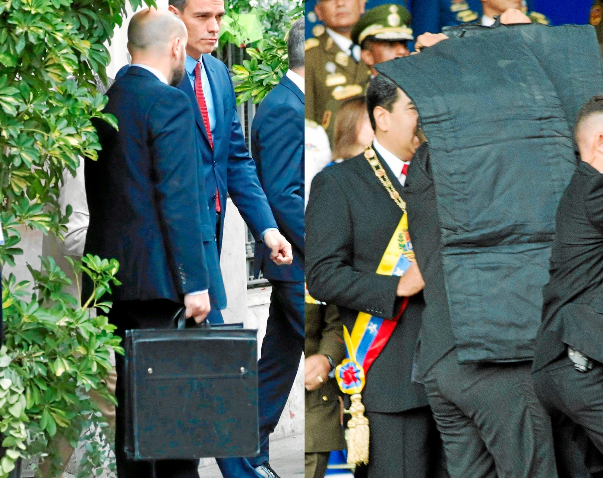 Maletín antibalas y subfusil de asalto para Sánchez durante su visita relámpago a Barcelona