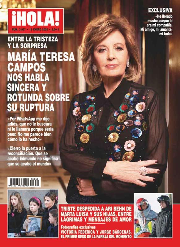 """Portada de la revista """"¡Hola!"""" del 8 de enero"""