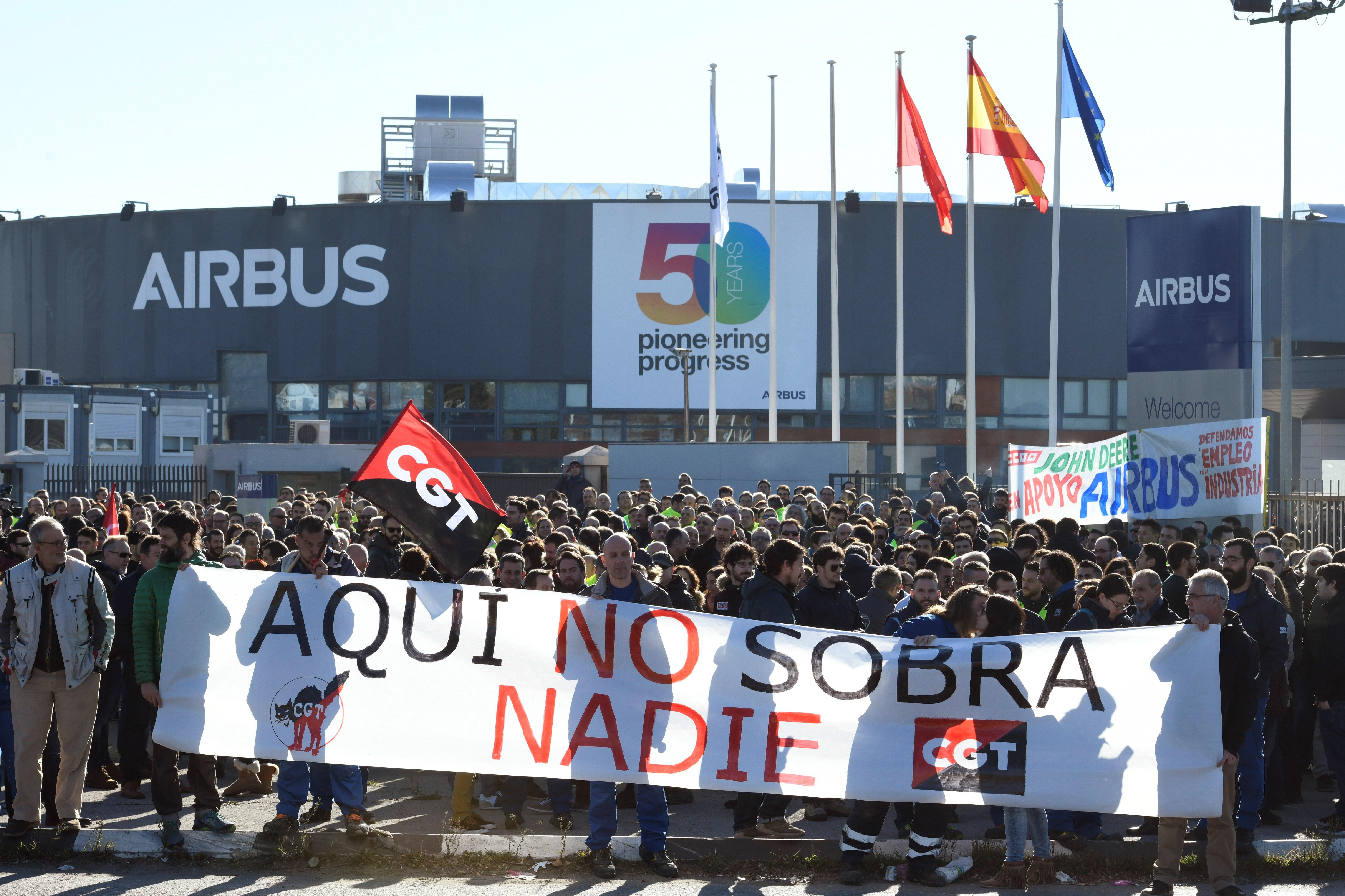 Protestas contra plan de ajuste anunciado por Airbus