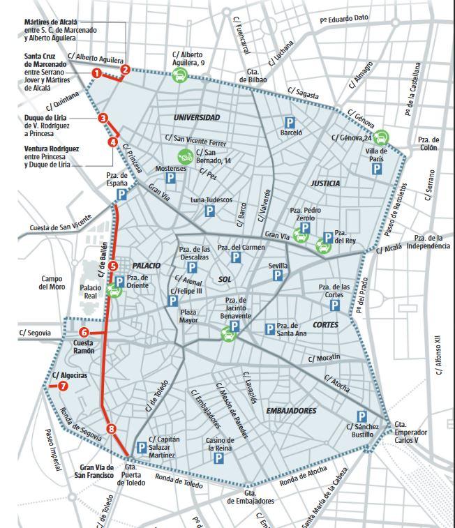 Zona Ser Madrid Mapa 2019.Este Es El Mapa De Madrid Central