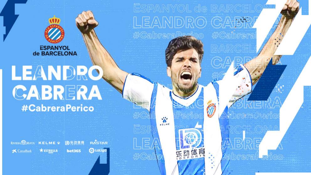 El Espanyol ficha a Leandro Cabrera al Getafe hasta 2024
