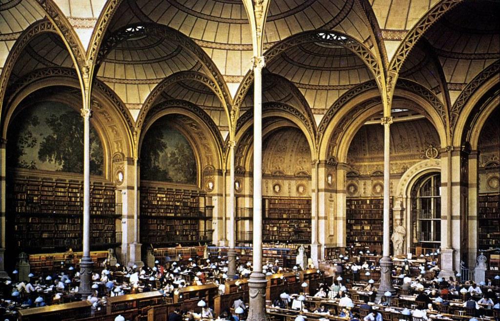 Sala de Lectura a mediados del siglo XIX.