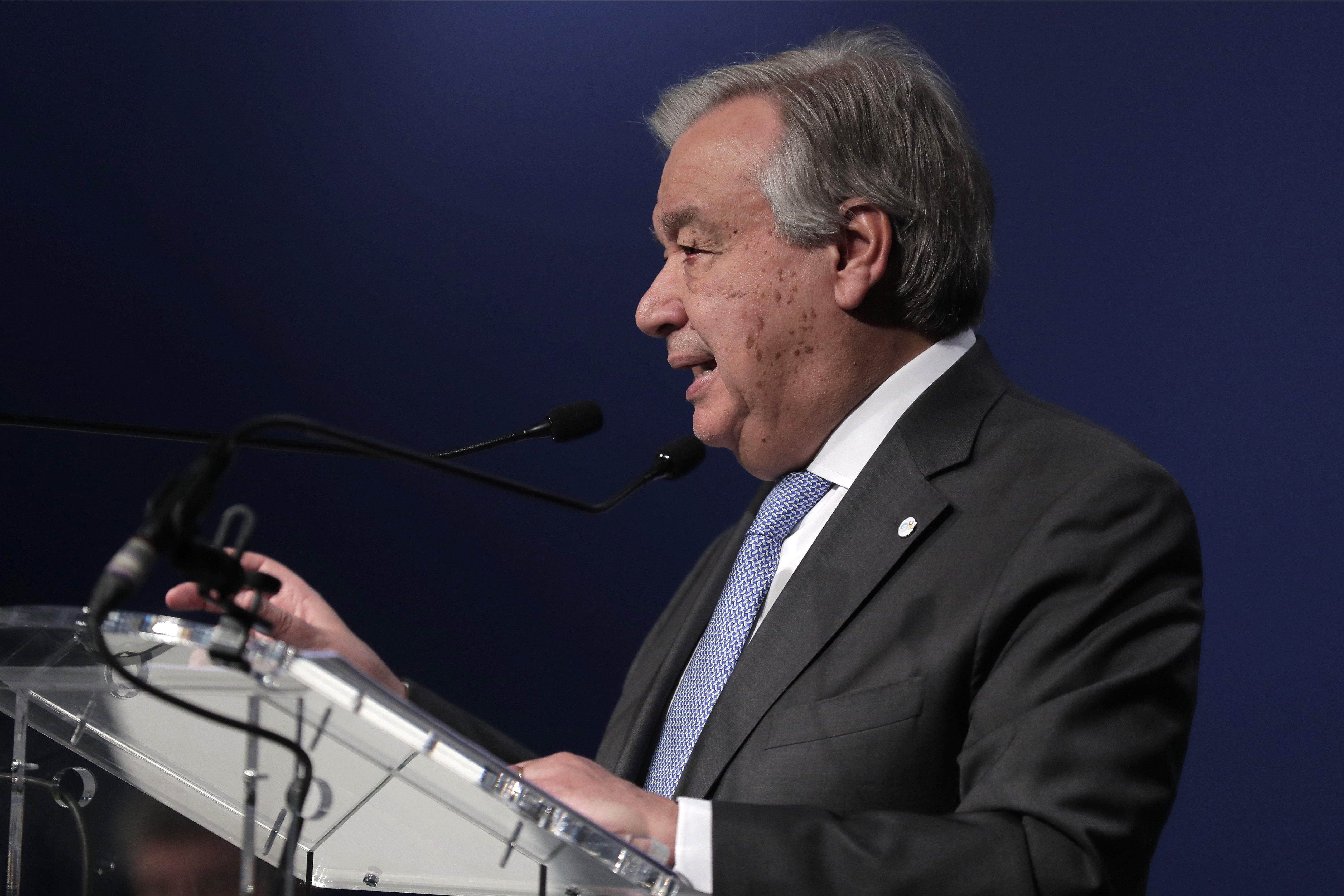 António Guterres: «España es un ejemplo»