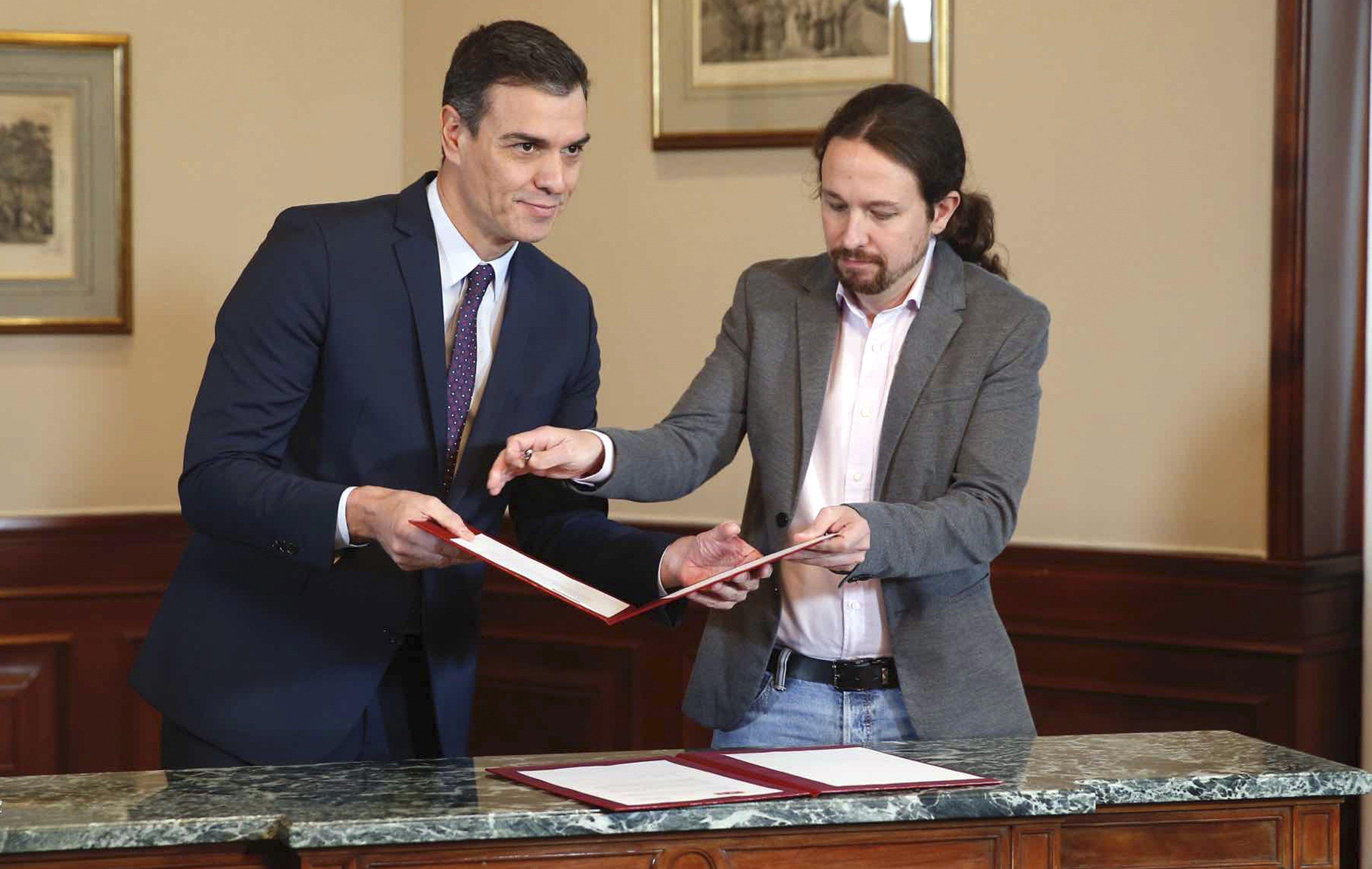 Texto íntegro del acuerdo PSOE-Podemos