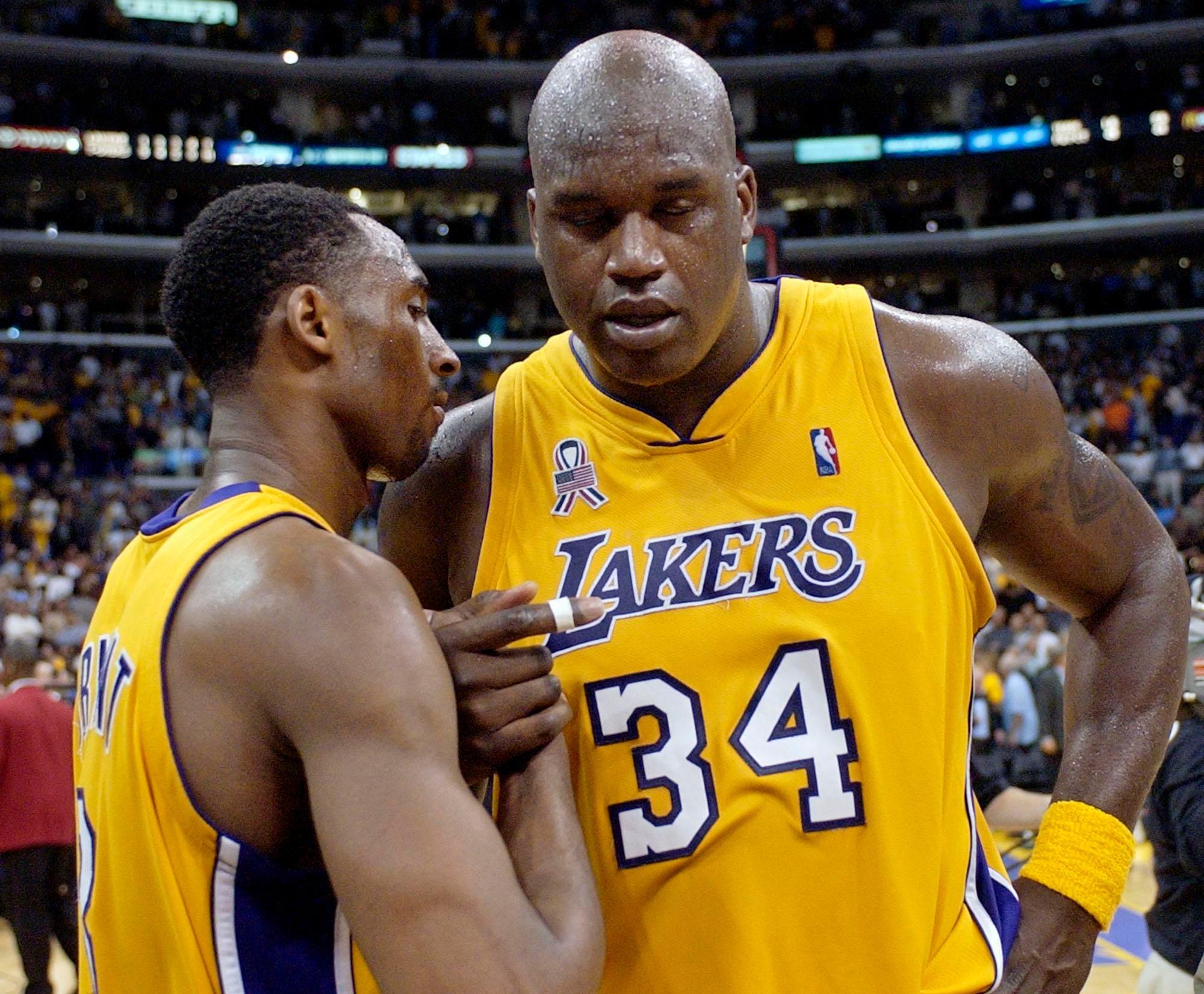Kobe Bryant y Shaquille O'Neal en Los Angeles Lakers
