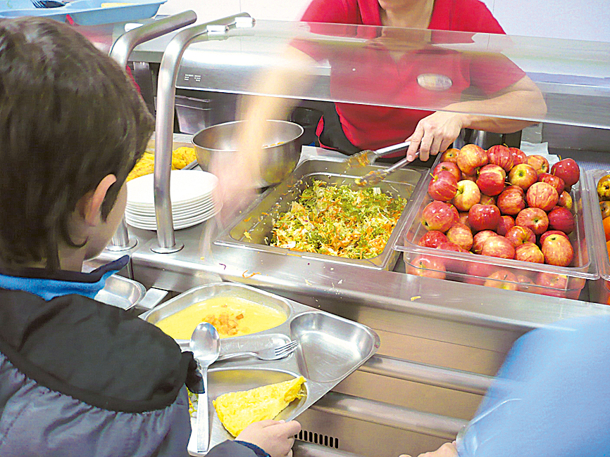 Comedores escolares con menú ecológico