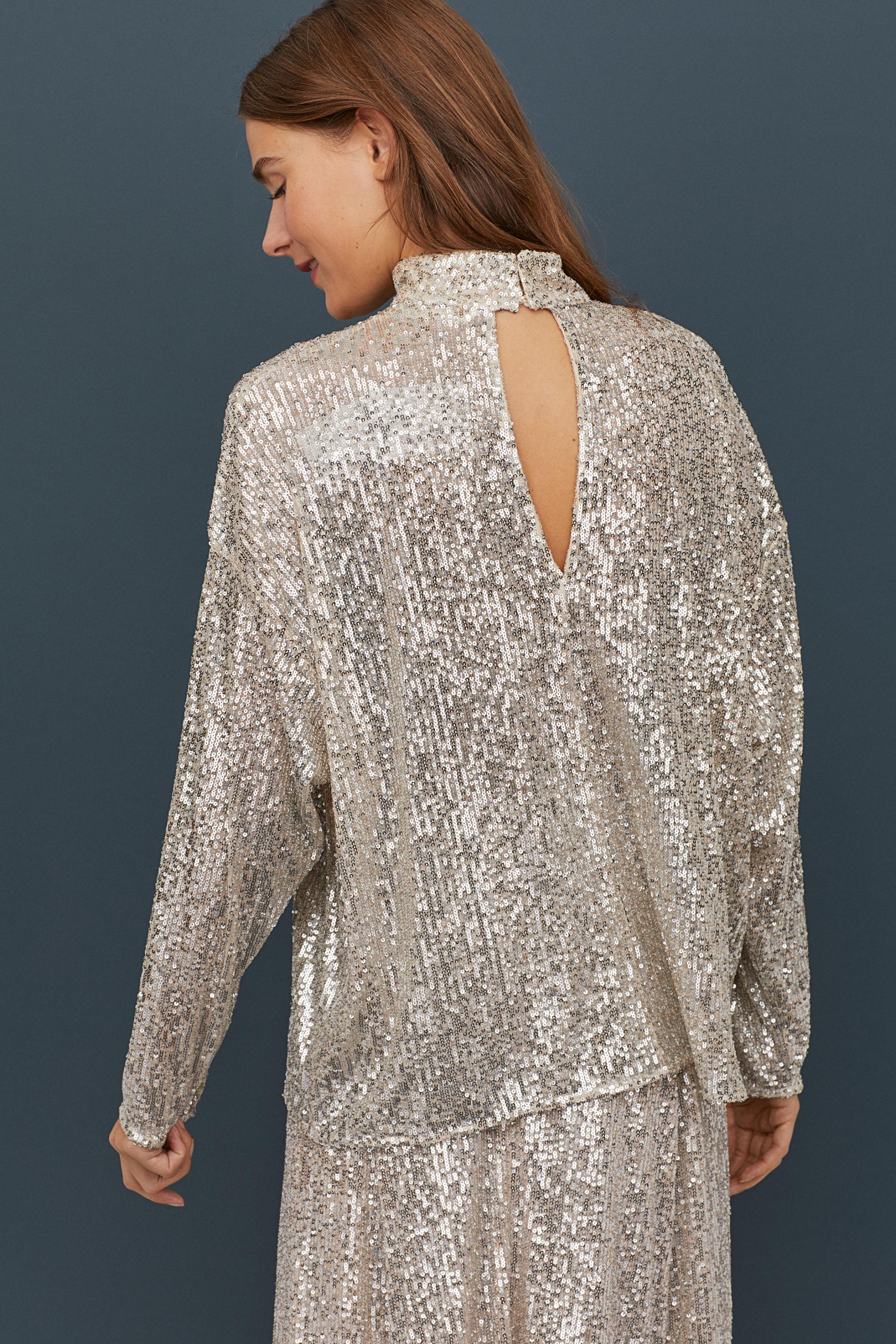 Será ver este total look de lentejuelas de H&M y olvidarte de los vestidos para Fin de Año